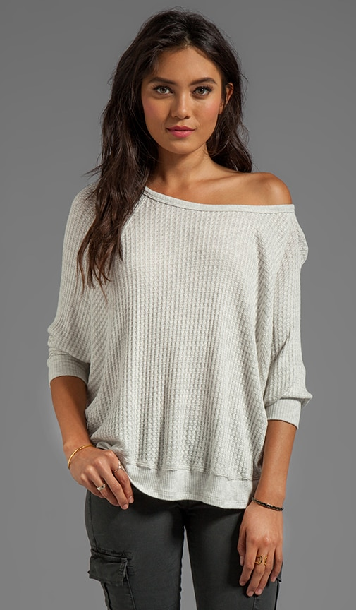 Sydney Thermal Knit Over Sized Long Sleeve