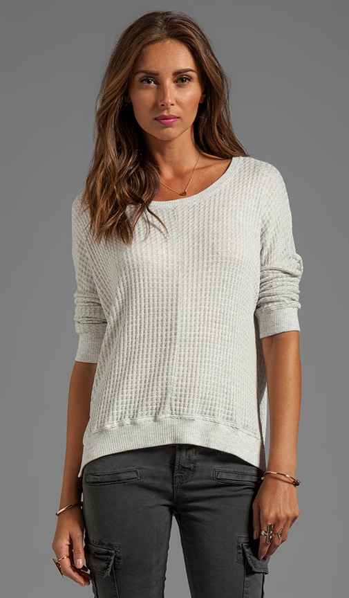 Regine Thermal Knit Over Sized Long Sleeve