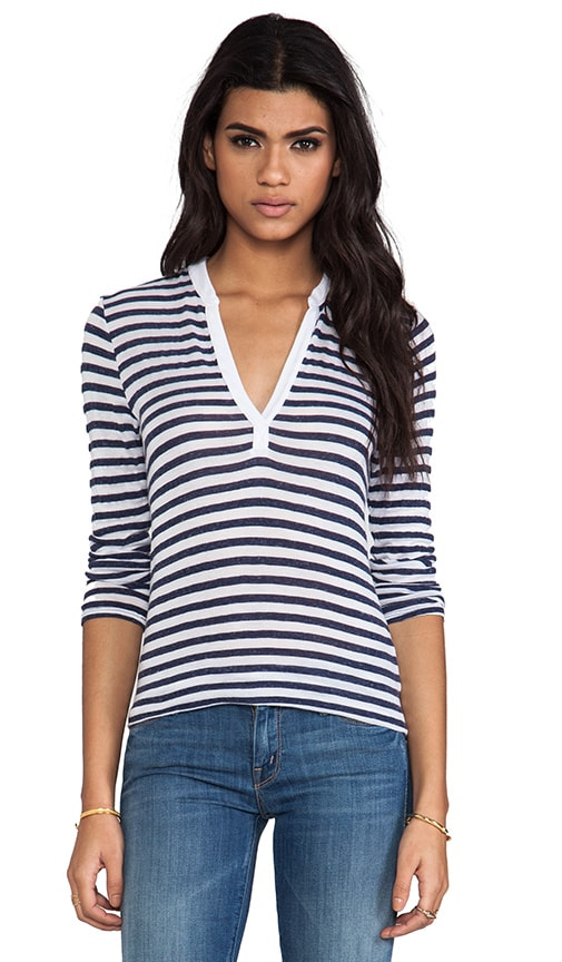 Velvet Cotton Stripe Michelle Top