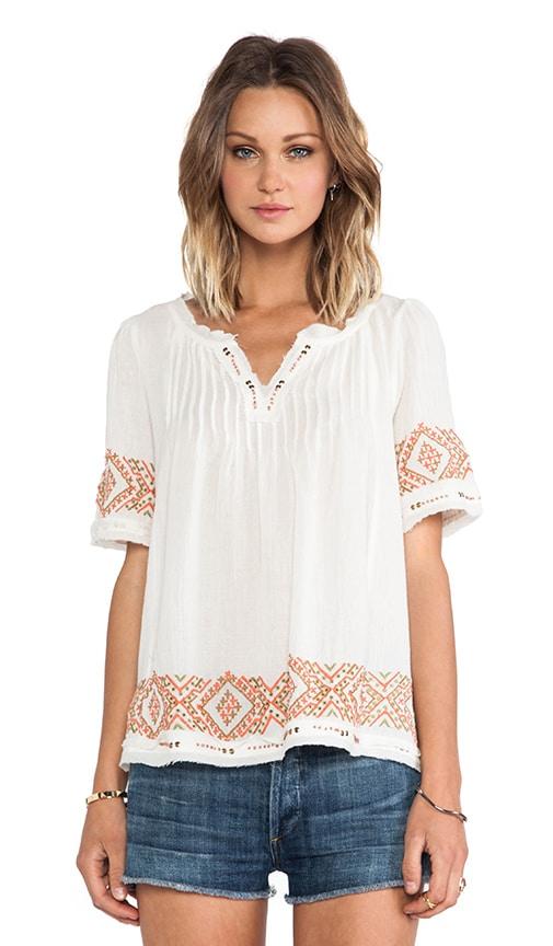 Milie Cotton Gauze Embroidery Top
