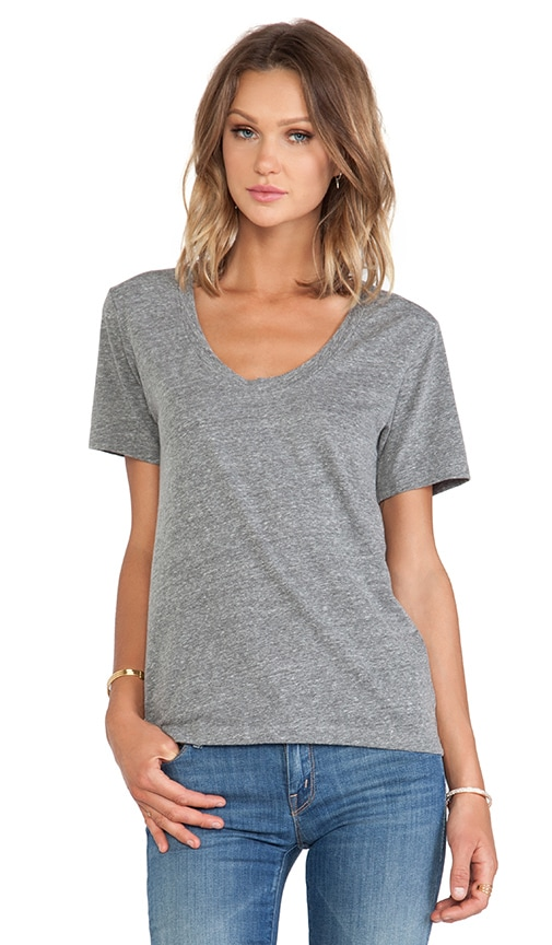 Albie Heather Grey Knit V Neck