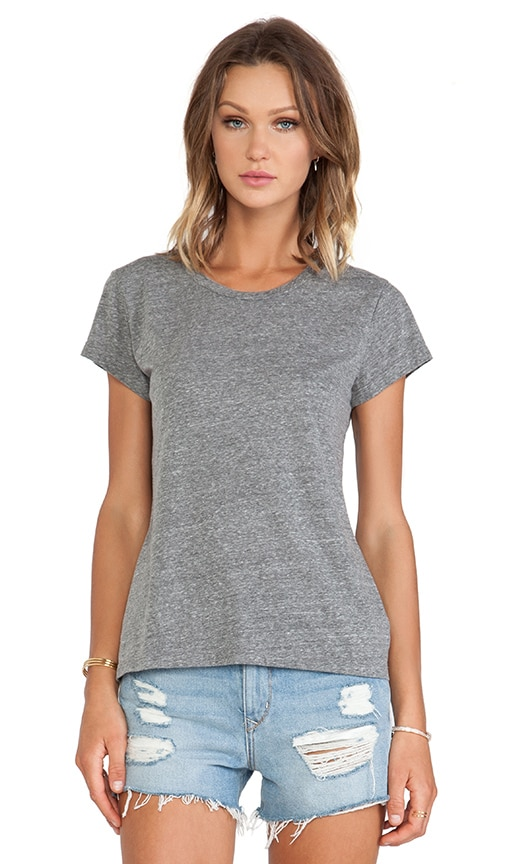 Ashlyn Heather Grey Knit Short Sleeve Top