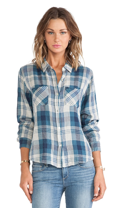 Adrianna Cotton Double Face Plaid Shirt