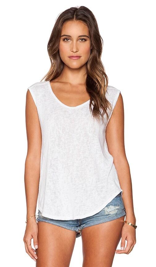 Velvet by Graham & Spencer Geralyn Sheer Texture Knit Top in White