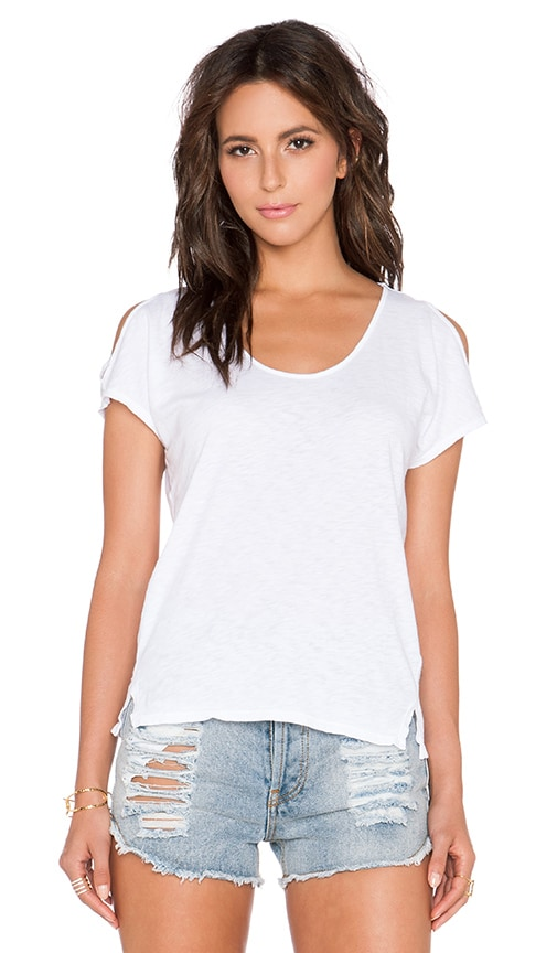 Velvet by Graham & Spencer Amaria Cotton Slub Tank in White