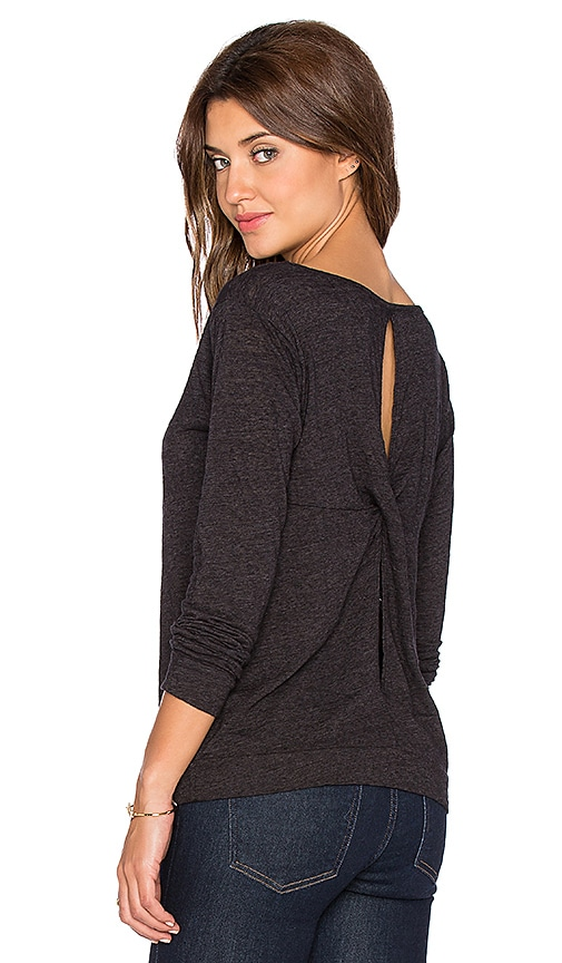 Velvet by Graham & Spencer Carmelita Soft Texture Knit Top in Black