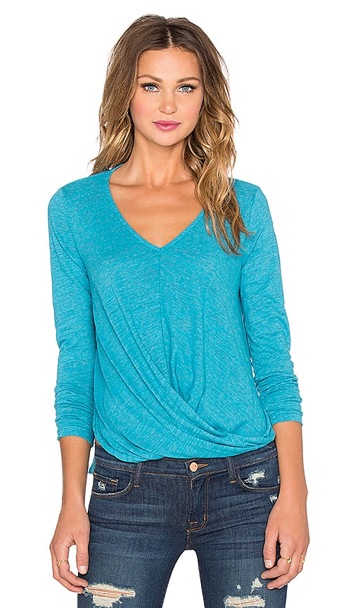 Velvet by Graham & Spencer Verlinn Soft Texture Knit Top in Mercury