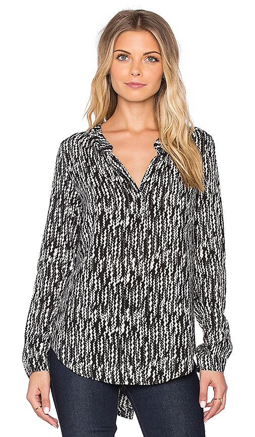 Arista Printed Challis Long Sleeve Blouse