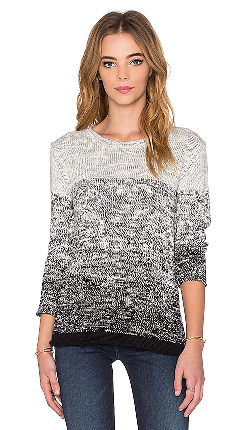 Velvet by Graham & Spencer Eldora Ombre Cotton Long Sleeve Top in Marled