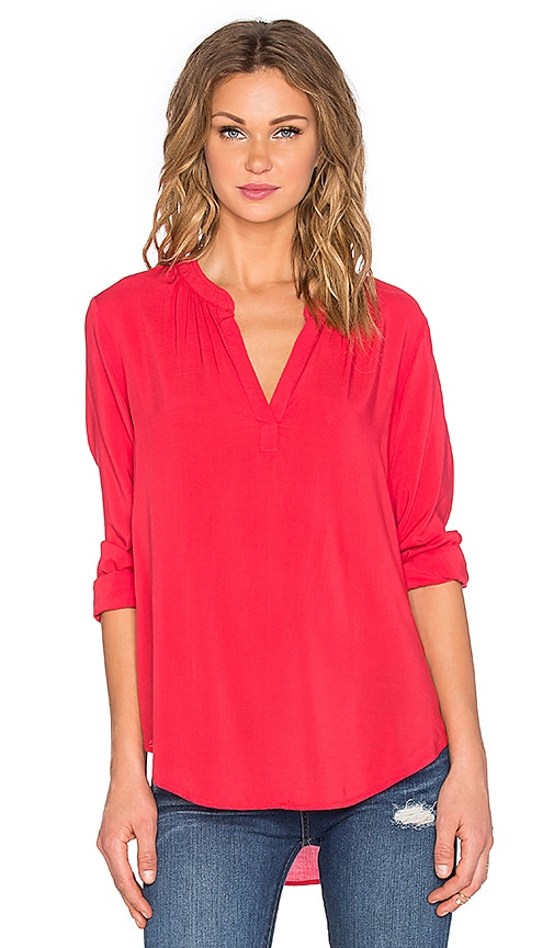 Rosie Rayon Challis Long Sleeve Top