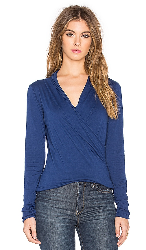 Meri Gauzy Whisper Classics Cross Front Long Sleeve Top