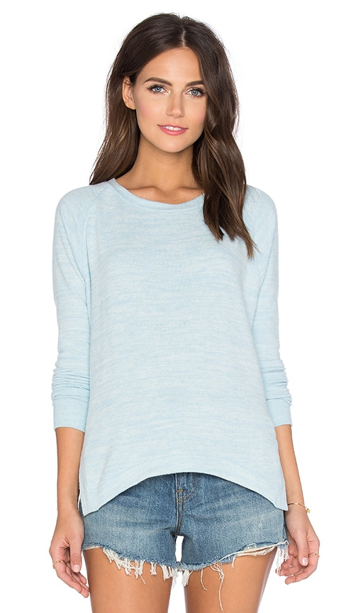 Velvet by Graham & Spencer Robina Cozy Heather Long Sleeve Top in Powder Blue