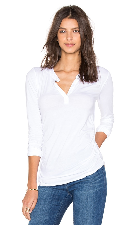 Velvet by Graham & Spencer Denali Gauzy Whisper Long Sleeve Top in White