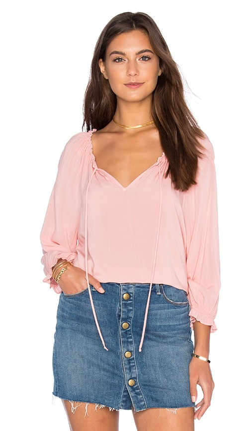Velvet by Graham & Spencer Kimberly Rayon Challis Top in Pink