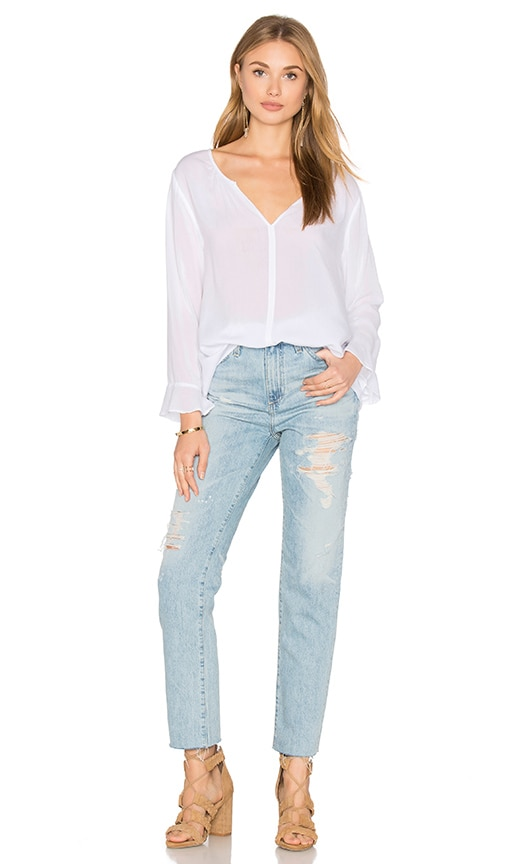 Azalea Long Sleeve V Neck Top