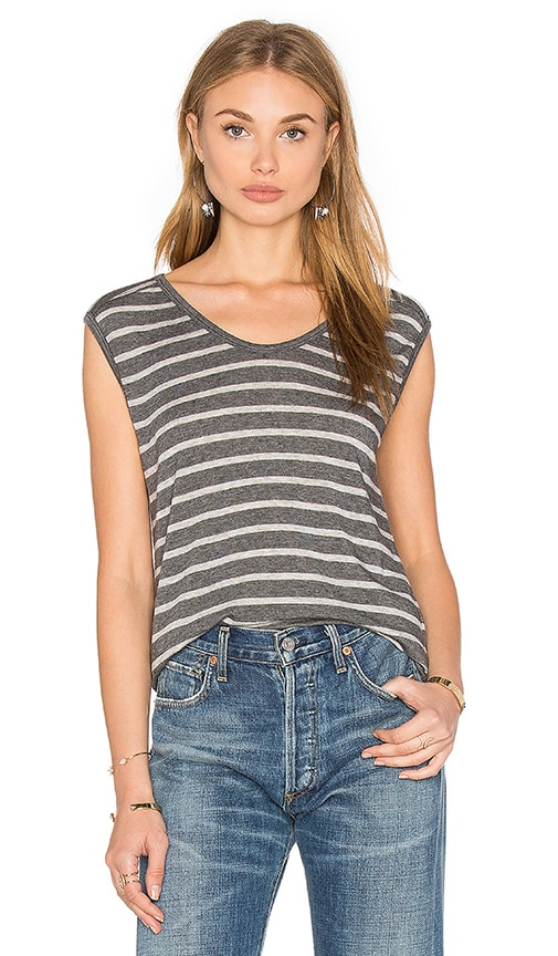 Crimson Sleeveless Scoop Neck Top