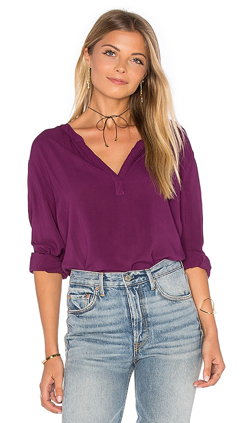 Rosie Long Sleeve V Neck Blouse