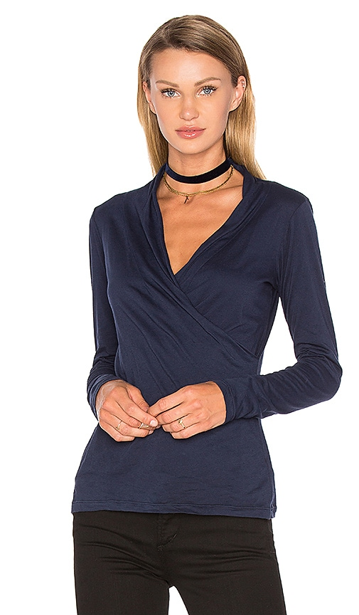 Meri Long Sleeve V Neck Top