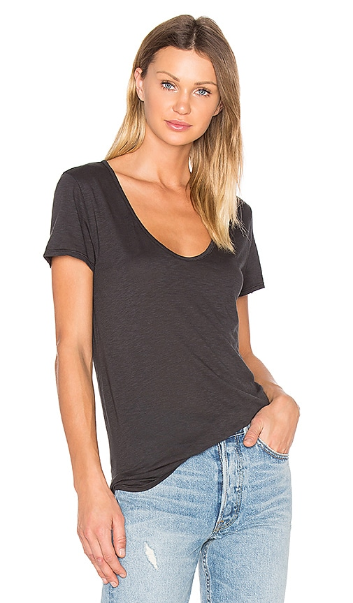 Velvet by Graham & Spencer Dree Tee in Charcoal