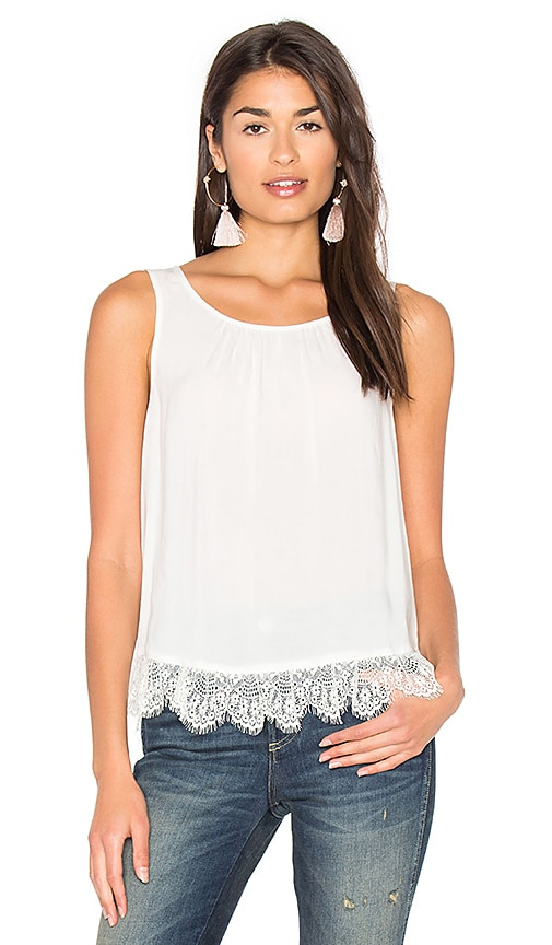 Velvet by Graham & Spencer Ottaline Tank in White
