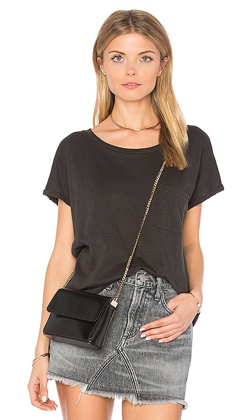 Velvet by Graham & Spencer Alice Pocket Tee in Charcoal