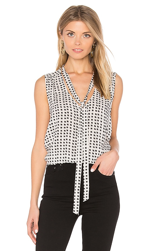 Velvet by Graham & Spencer Annaline Tank in Black & White