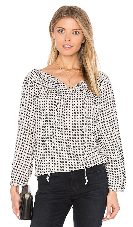 Velvet by Graham & Spencer Clementia Blouse in Black & White