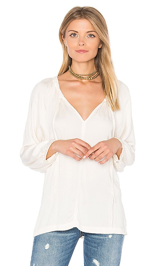 Velvet by Graham & Spencer Pazia Blouse in Cream