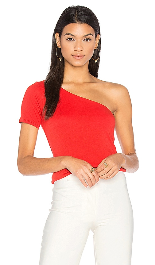 Velvet by Graham & Spencer Abbeline One Shoulder Top in Red