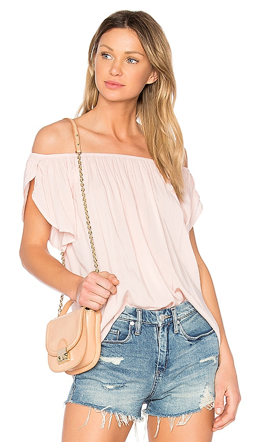 Velvet by Graham & Spencer Caris Off the Shoulder Top in Pink