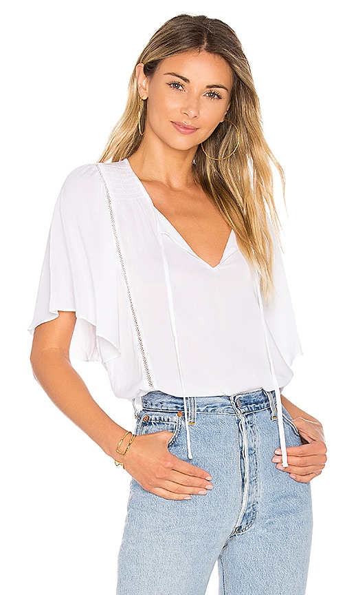 Velvet by Graham & Spencer Juna Top in White