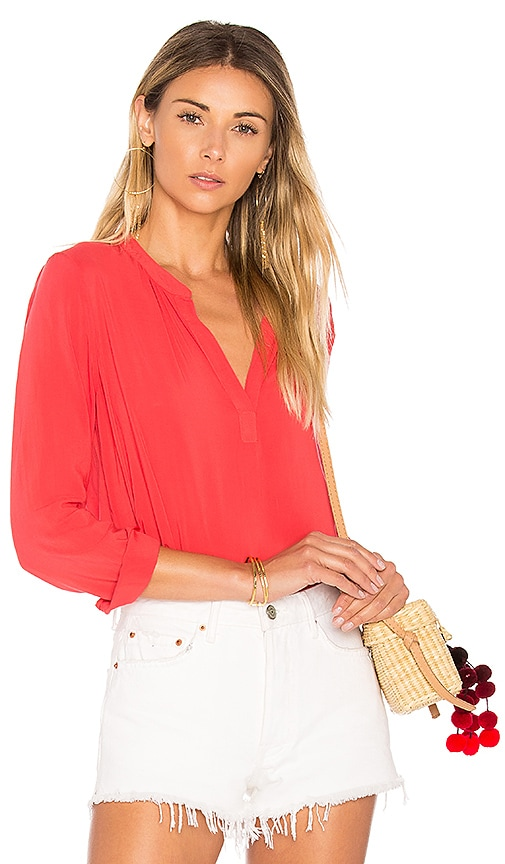 Velvet by Graham & Spencer Rosie Blouse in Red
