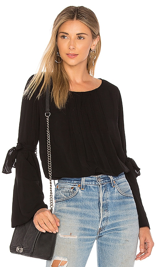 Velvet by Graham & Spencer Abitha Blouse in Black