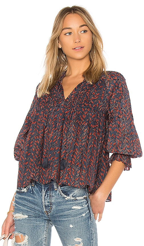 Velvet by Graham & Spencer Jayla Blouse in Red
