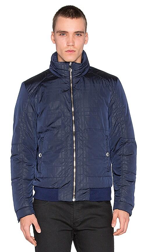 Plaid Sheen Down Puffer Coat