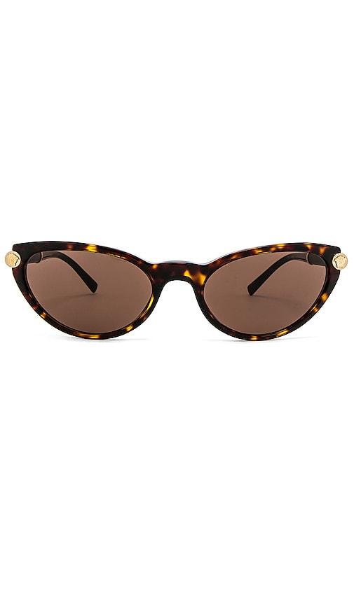 Dark De Lunettes Brown V Cat Rock Soleil Eye Havanaamp; En Versace nXZ80wNPkO
