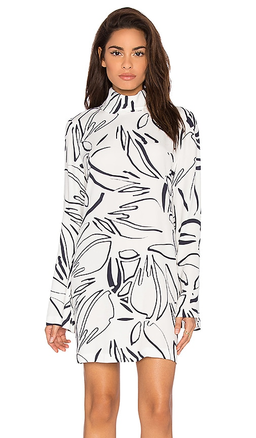 Viktoria + Woods Ultra Bell Sleeve Mini Dress in White