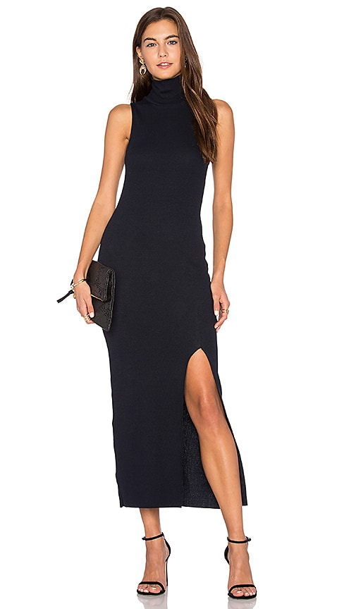 Viktoria + Woods Gunnar Split Maxi Dress in Navy