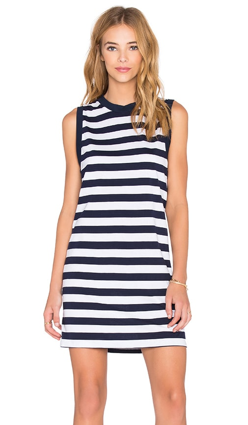 Viktoria + Woods Toronto Tank Dress in Navy & White Stripe