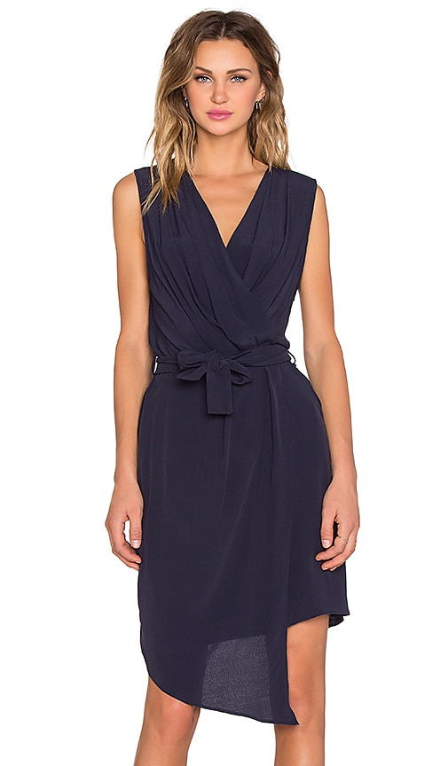 Viktoria + Woods Campri Wrap Dress in Navy