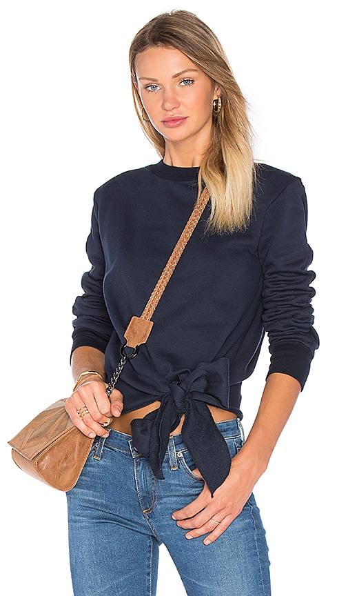Viktoria + Woods Beyond Tie Sweater in Navy