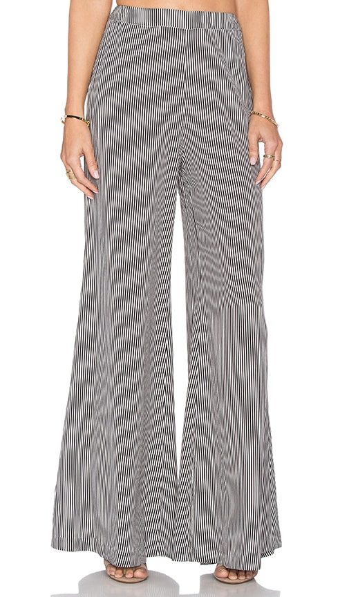 Viktoria + Woods Ambition Flare Pant in Black & White