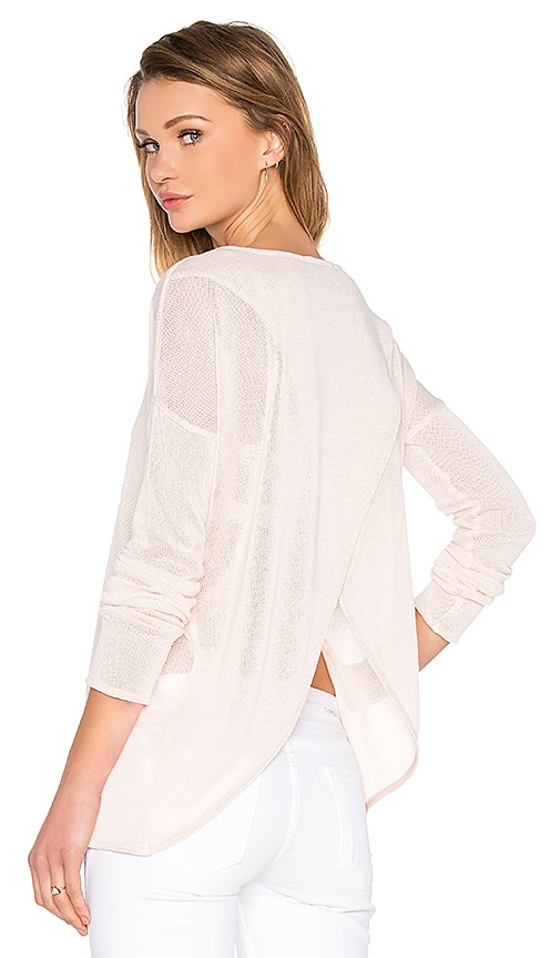 Viktoria + Woods Canyon Open Back Crew Top in Blush