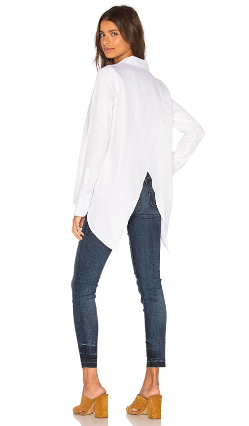 Viktoria + Woods Merrit Open Back Shirt in White