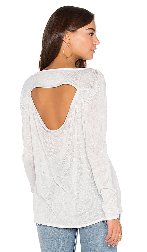 Viktoria + Woods Column Open Back Top in Light Gray