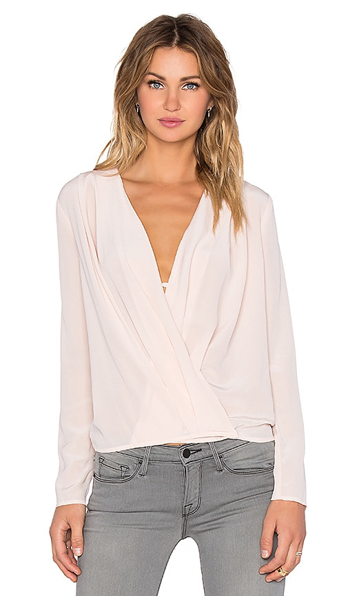 Viktoria + Woods Labyrinth Wrap Top in Pink