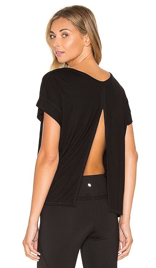Vimmia Serenity Split Back Tee in Black