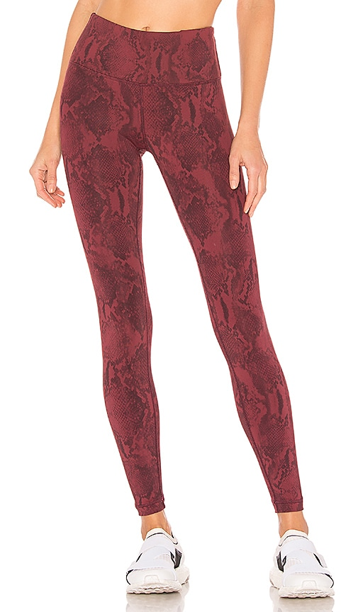 2f0f8abc480ff3 Vimmia Printed Core Legging in Burgundy Python | REVOLVE