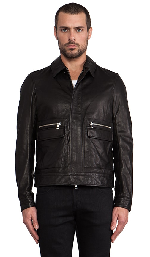 Leather Patch Pocket Bomber