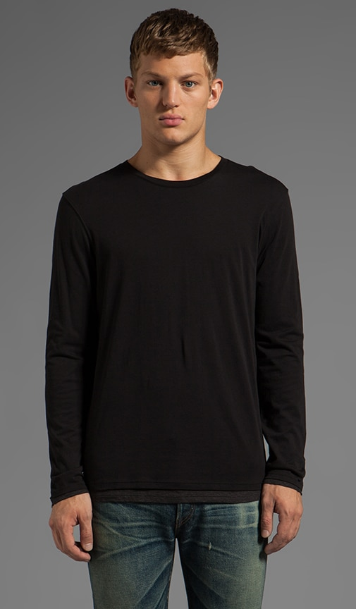 Long Sleeve Double Layer Crew